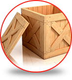 Boxes for packing and wooden huacales